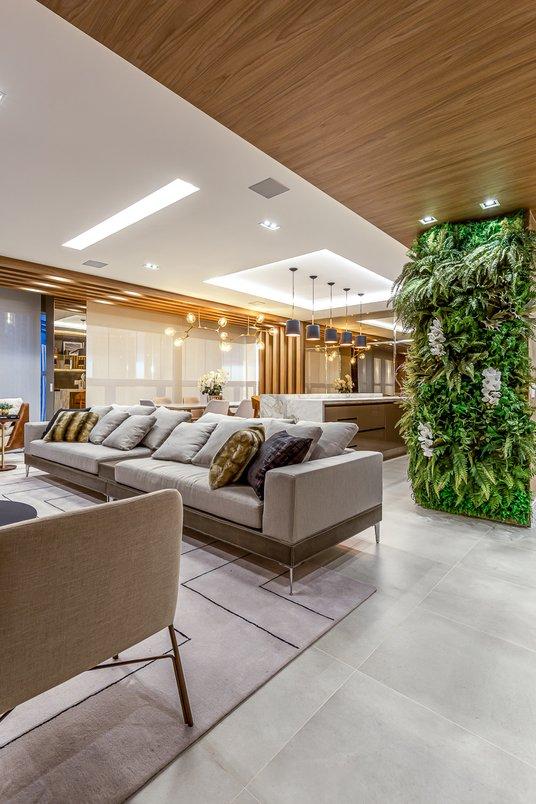 living integrado com piso 60x60cm pietra di firenze