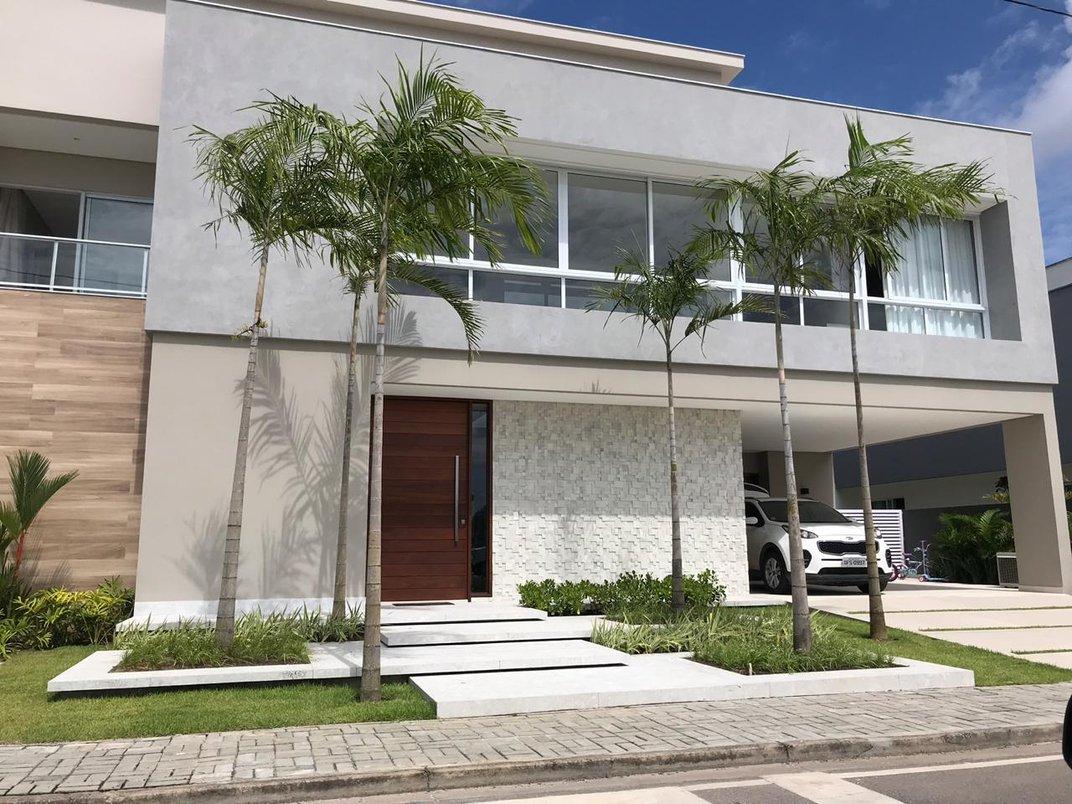 Projeto de Arquitetura Paisagística e Paisagismo em uma residência unifamiliar em condomínio fechado, localizada em Cabedelo-PB