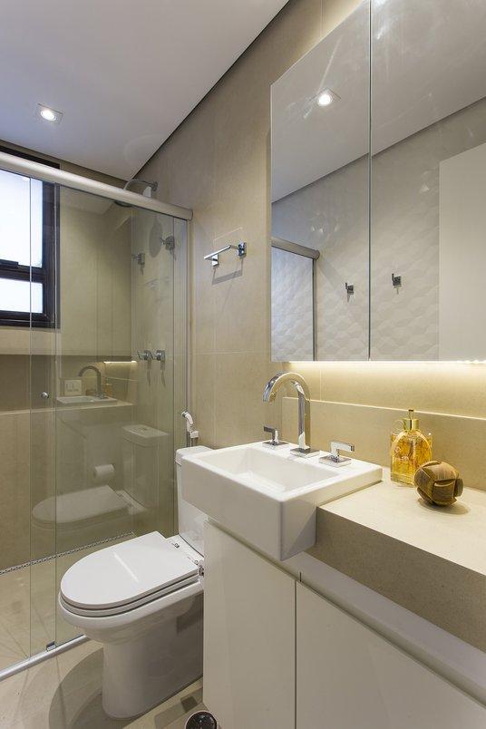 Banheiro :PIETRA DI FIRENZE NUDE 60X120 RET
