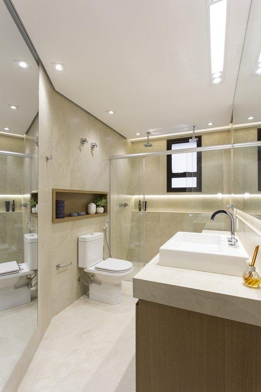 Banheiro: Piso e revestimentoPAILLE ST LAURENT 60X120 NAT