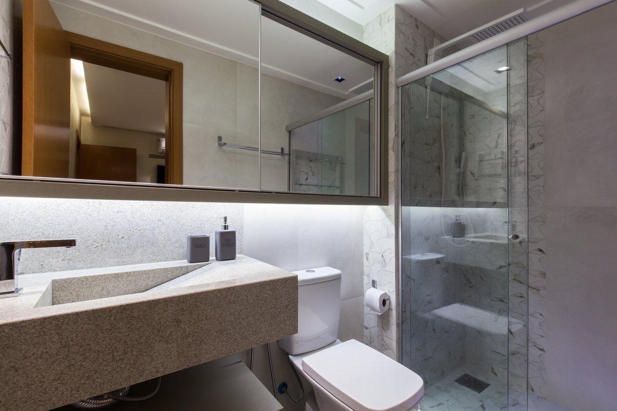 Banheiro casal, clarinho como minha cliente sonhou!