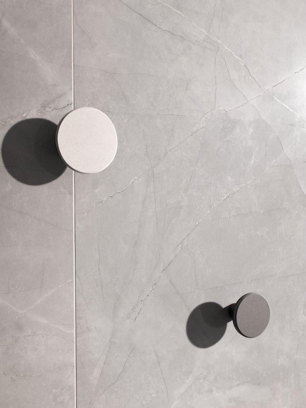 Argento e Off White - Cabideiro redondo de parede