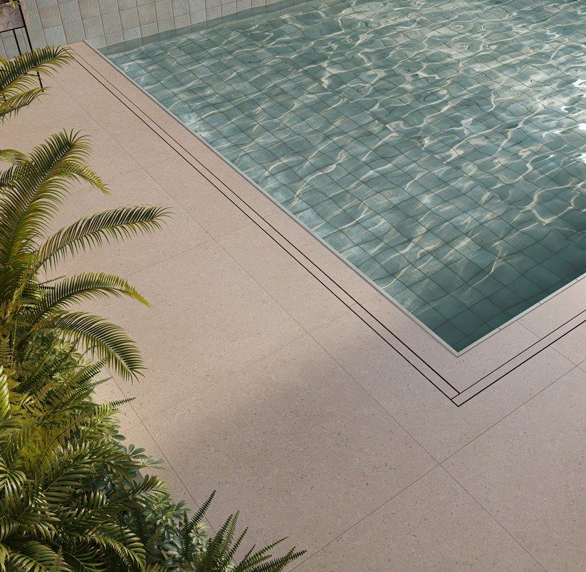 Honolulu na piscina, detalhe
