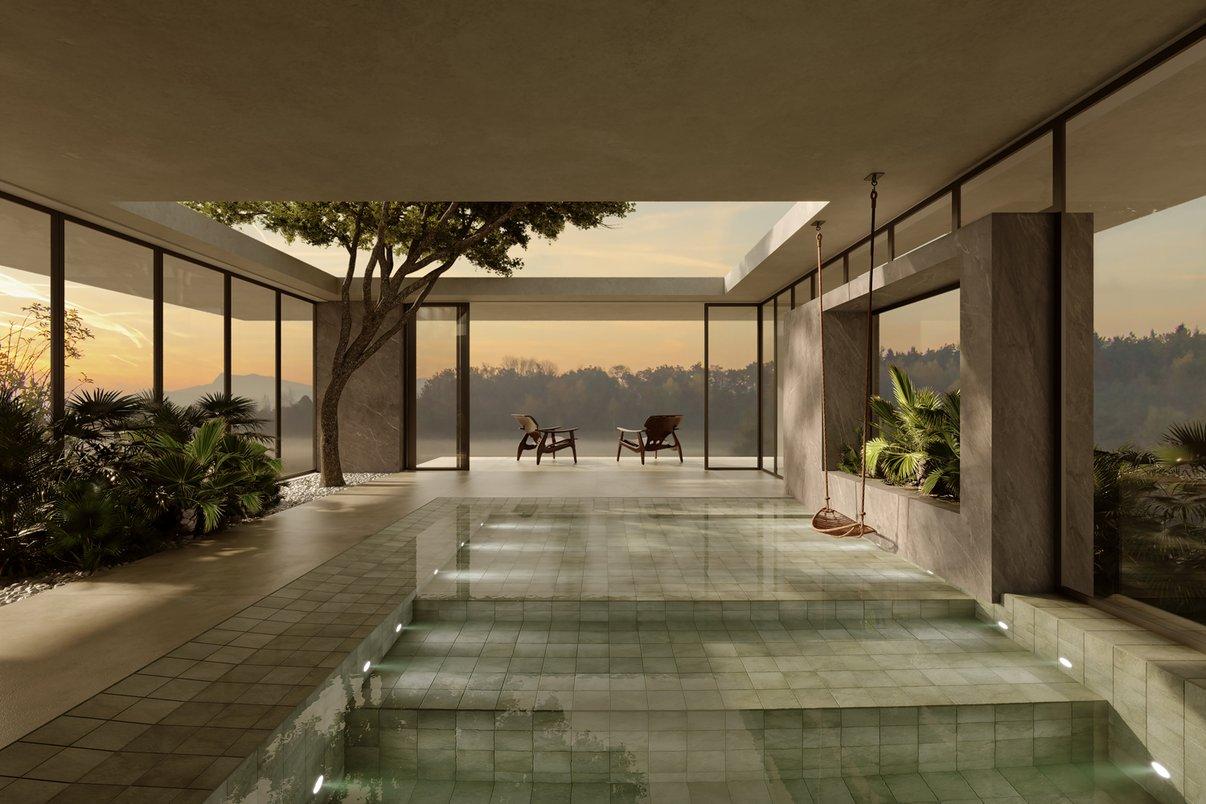 Cappadocia na piscina - Projeto Marcelo Amoroso