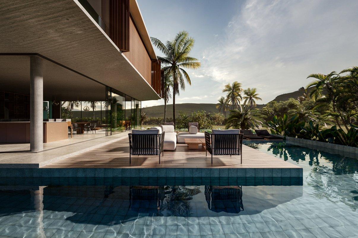 Rio na piscina - Projeto de Giordano Rogoski