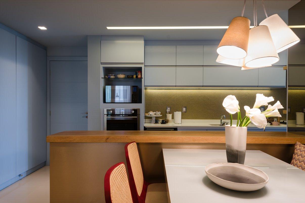 Detalhes cozinha azul