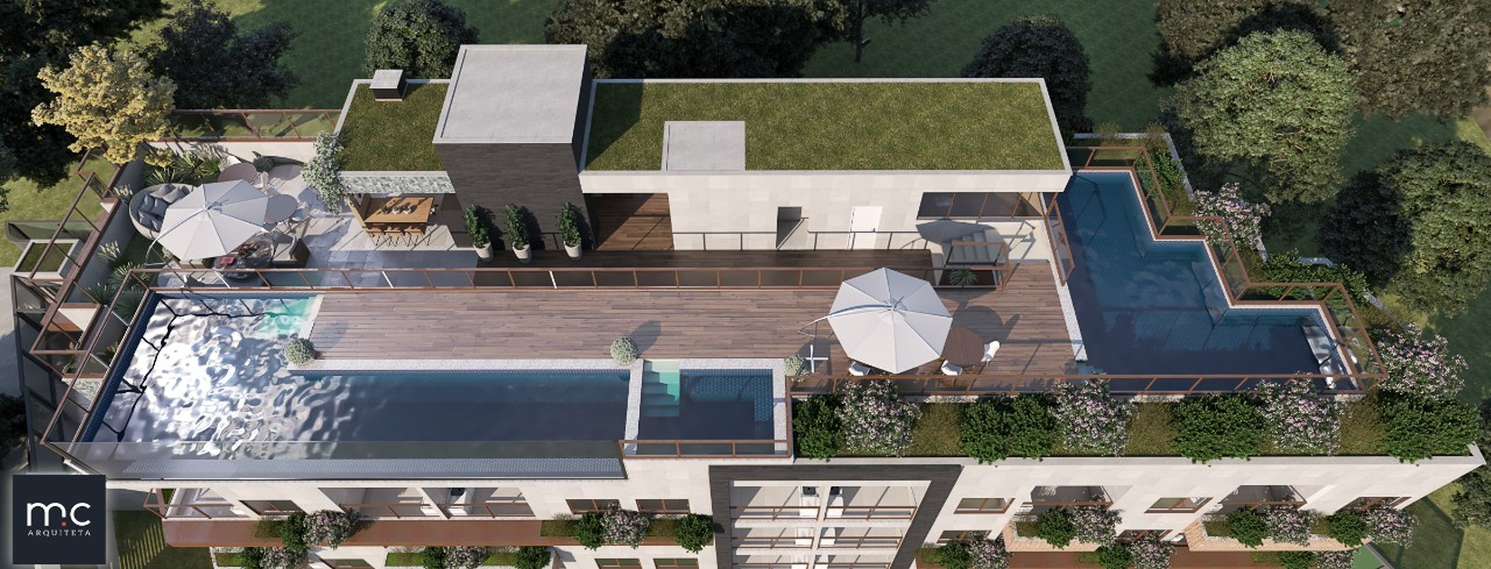 Vista do Rooftop