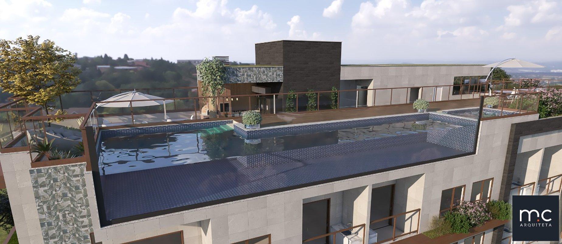 Fachada piscina Rooftop