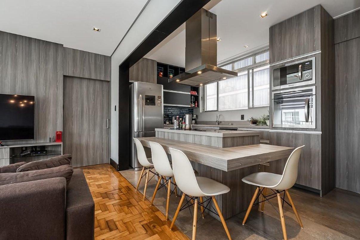 Vista geral da cozinha