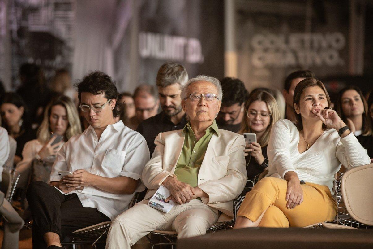 Plateia com presença do ícone da arquitetura Ruy Ohtake e da Christiane Ferreira, Diretora de Branding e Inovação da Potobello.