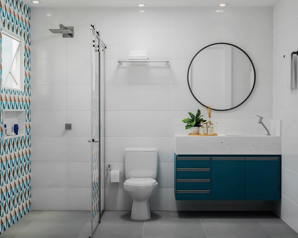 Banheiro para um jovem adolescente