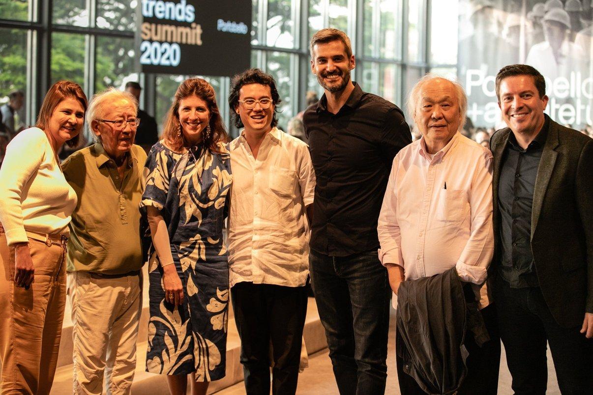 Familiares do arquiteto Ruy Ohtake e integrantes da Portobello.