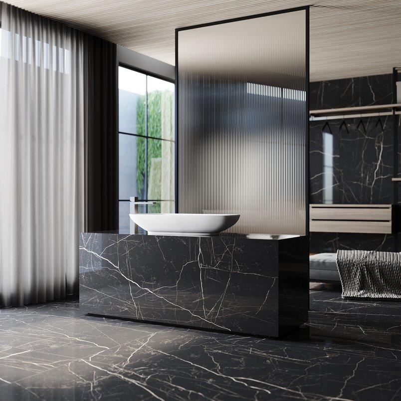 Banheiro com Nero Venato