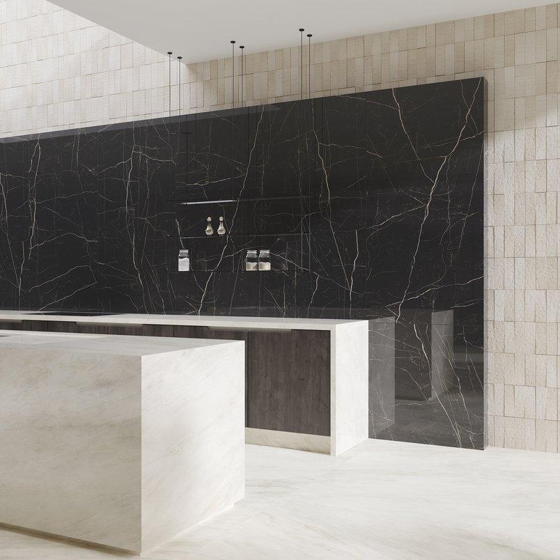 Cozinha com Nero Venato, detalhe 1