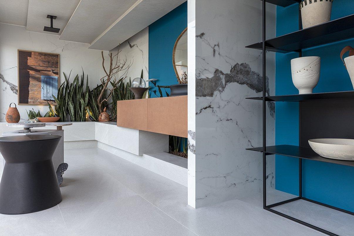 Sala de Banho do Ceramista, de Marcelo Diniz e Mateus Finzetto (Foto: Roger Dipoldi)